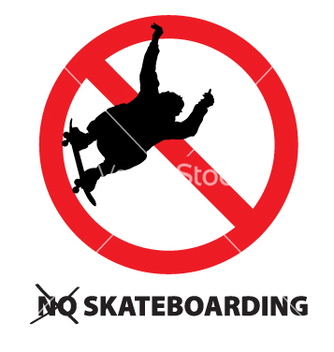 Free no skateboarding vector - бесплатный vector #271081