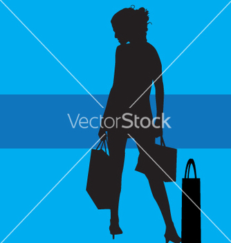 Free shopping silhouette vector - Free vector #271091