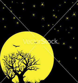 Free night sky and moon vector - Kostenloses vector #271161
