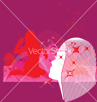 Free model profile and dream elements vector - Free vector #271181