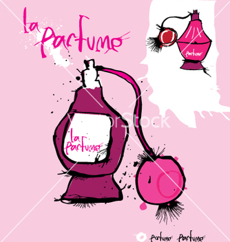 Free perfume bottle vector - Free vector #271221