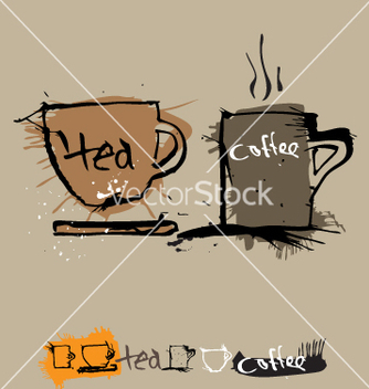 Free ink coffee cup vector - бесплатный vector #271261