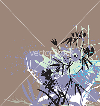 Free ink and flowers vector - Free vector #271271