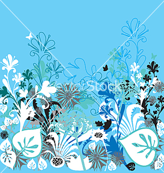 Free garden of earthly delights blue vector - vector gratuit #271341