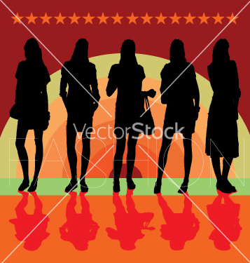 Free fashion models vector - Free vector #271361