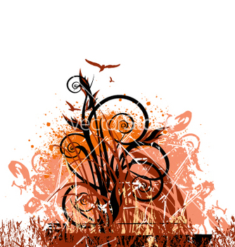 Free floral grunge vector - Free vector #271381