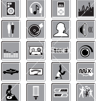 Free dance music icons vector - Free vector #271461