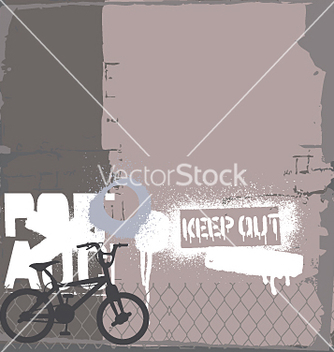 Free bmx bike on the wall vector - vector gratuit #271521