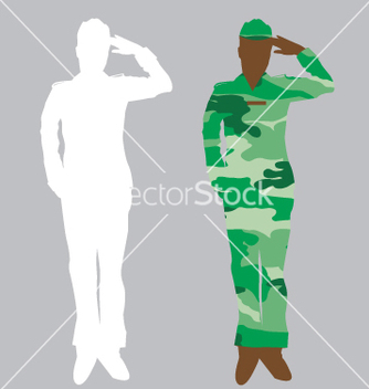 Free army officer vector - Free vector #271531