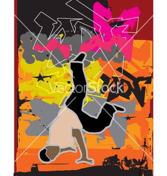 Free stylized breakdance vector - Free vector #271561