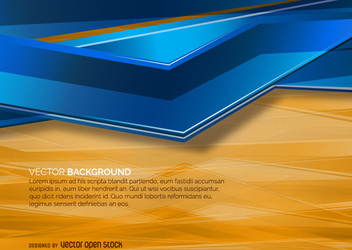 Orange and Blue abstract background - vector gratuit #271581