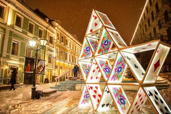 Sculpture of playing cards - Free image #272311