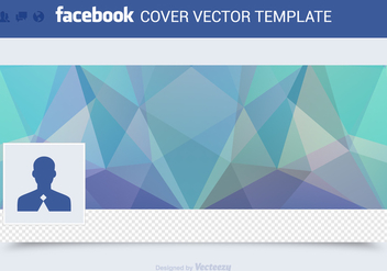 Free Facebook Cover Vector Template - Free vector #272381