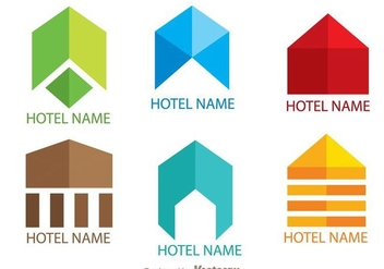 Colorful Simple Hotels Logo Vectors - бесплатный vector #272401