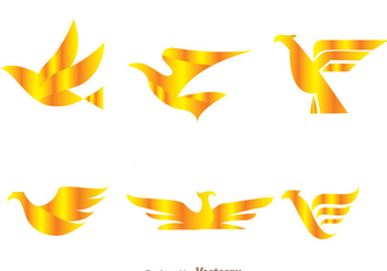 Vector Golden Bird Logos - Free vector #272461