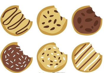 Delicious Cookie Vectors - Free vector #272471