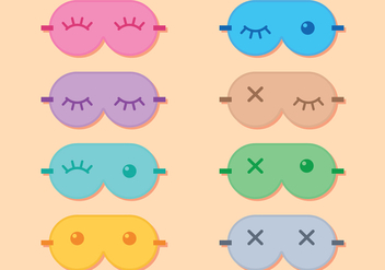 Sleep Mask Eyes - Free vector #272481