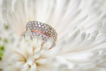Wedding ring in flower - бесплатный image #272571
