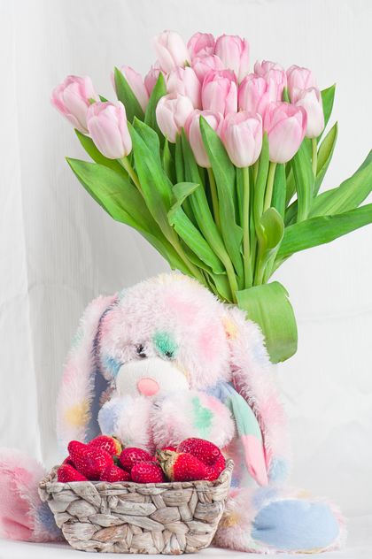 Bouquet of pink tulips - Free image #272581