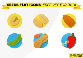 Seeds Flat Icons Free Vector Pack - Kostenloses vector #272651