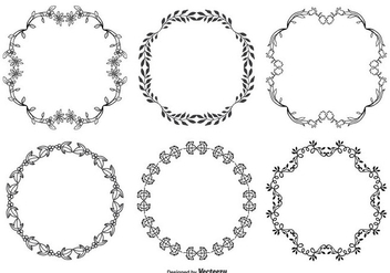 Cute Hand Drawn Style Decorative Frame Set - vector #272681 gratis