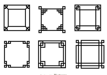 Japanese Square Frame - Free vector #272701