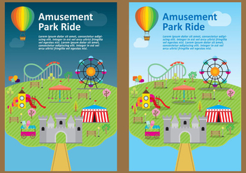 Amusement Park Flyer Vectors - vector #272721 gratis
