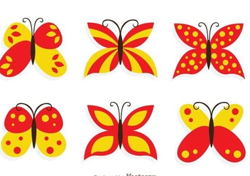 Butterfly Collection Set - vector gratuit #272751