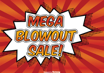 Mega Blowout Sale Comic Style Illustration - Free vector #272761