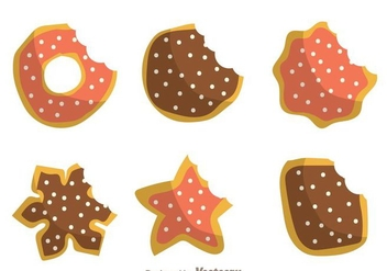 Bite Mark Cookies - vector gratuit #272771