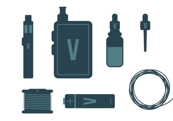 Vape Vector Items - Kostenloses vector #272811