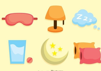 Sleep Flat Icons - Free vector #272831