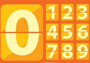 Flat Number Counter - vector gratuit #272861