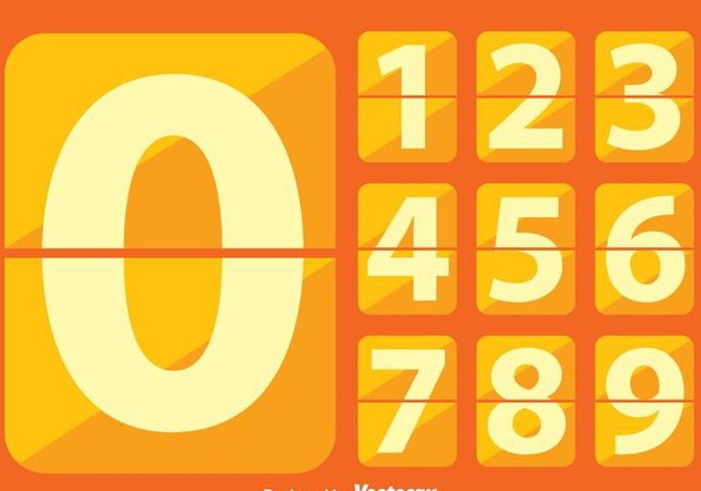 Flat Number Counter - Free vector #272861