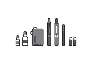 Free Vaping Illustration - vector gratuit #272881