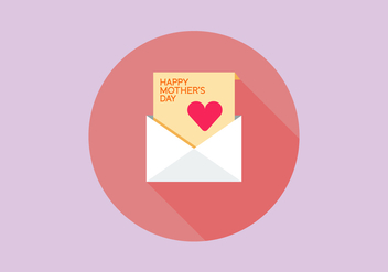 Flat Mother's Day Envelope Vectors - vector gratuit #272891