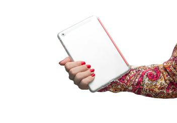 Tablet computer in female hand - бесплатный image #273171