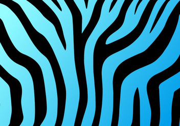 Neon Blue Zebra Print Vector Background - Kostenloses vector #273351
