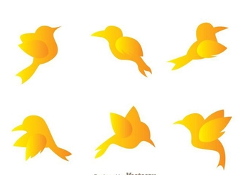 Flying Bird Icons - Free vector #273371