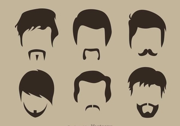 Beard Man Icons - vector gratuit #273401