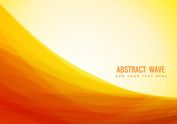 yellow color abstract wave - Free vector #273431