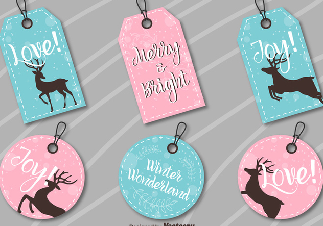 Christmas labels - vector gratuit #273981