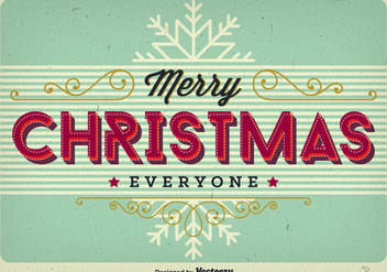 Merry christmas background - Free vector #273991
