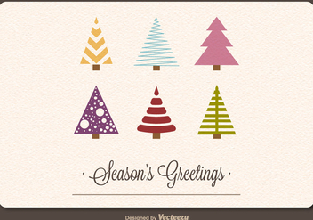Retro holiday card - vector gratuit #274001