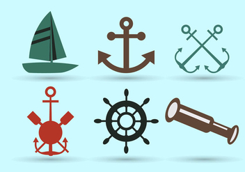 Nautical symbols - vector gratuit #274021