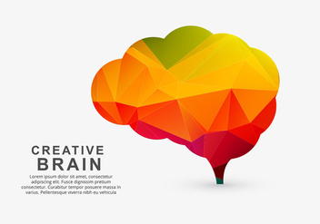 Colorful creative brain - Free vector #274081