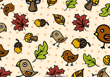 Autumn cartoon pattern vector - vector gratuit #274131