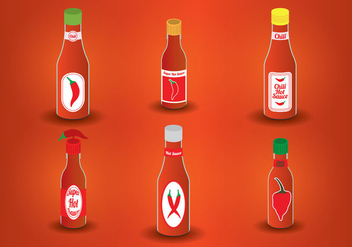 Hot Sauce Bottle Vector - vector #274141 gratis