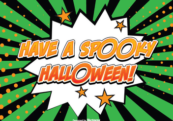 Comic Style Halloween Illustration - Free vector #274181