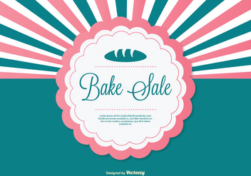 Bake Sale Background Illustration - Free vector #274191